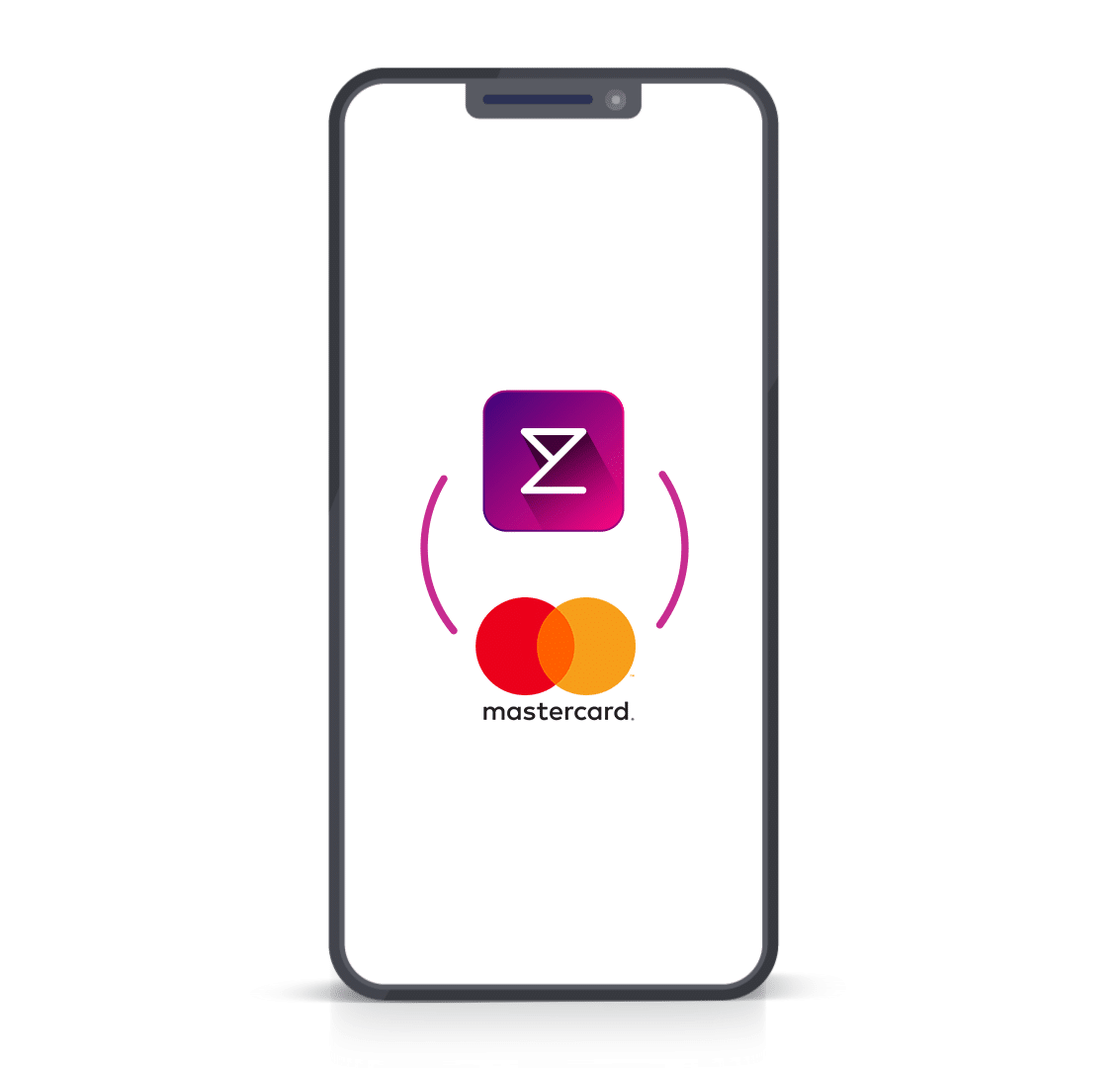 Enterpryze and Mastercard logo on phone