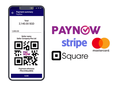 Paynow, Stripe, Mastercard, and Square integrations are available on Enterpryze browser