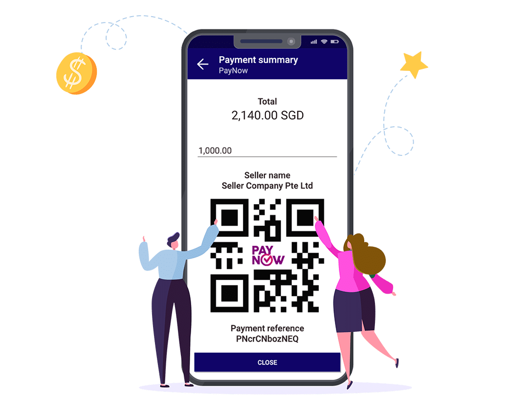 Enterpryze Singapore PayNow Payment Summary QR code