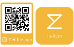 Qr code for downloading the deliver app on Google play or App Store