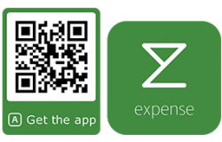 Qr code for downloading the expense app on Google play or App Store