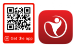 QR code for download the HR easily app on Google Play and App Store