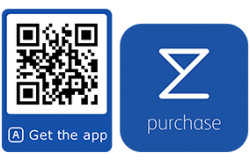 Qr code for downloading the purchase app on Google play or App Store