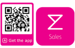 Qr code for downloading the sales app on Google play or App Store