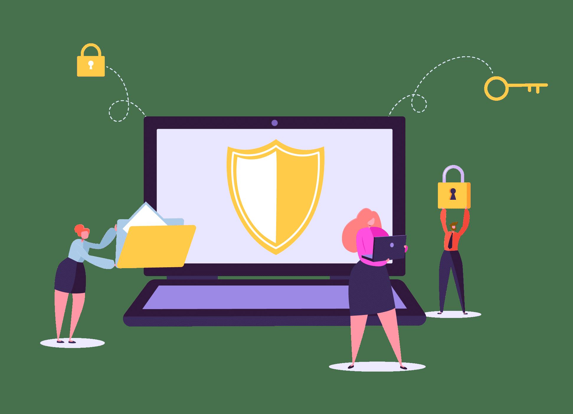 Enterpryze Vulnerability Disclosure shield icon on laptop